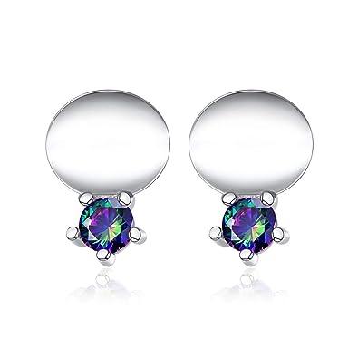 925 Sterling Silver Lotus Flower Natural Pearl Ear Drop Earrings Women Jewellery