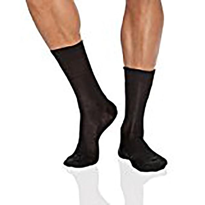 Punto Blanco Hilo Escocia Canalé, Calcetines Cortos para Hombre: Amazon.es: Ropa y accesorios
