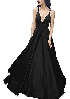 CCBubble V Neck Satin Prom Dresses 2018 Elegant Long Prom Party Dress