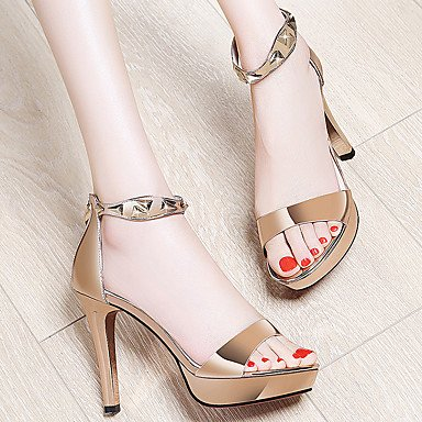 Patent Gold Summer Casual Evening Gladiator UK6 Heel Dress Fall Women'S Leather Stiletto RTRY Silver 3In Gladiator CN39 EU39 3 amp;Amp; US8 Sandals Party 3 4In fqtXAa