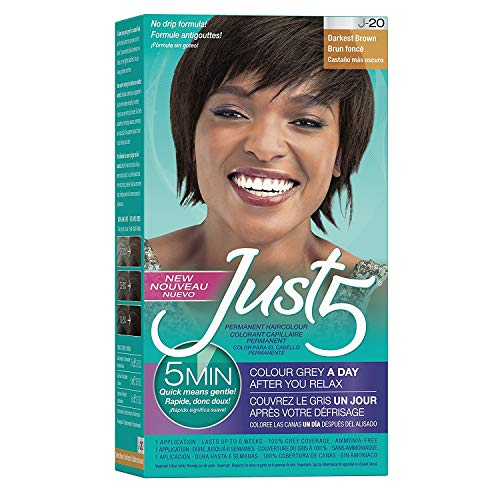 Just 5 Color Darkest Brown (3 Pack)