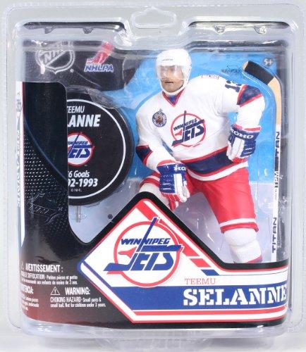 McFarlane's Sports Picks NHL Hockey 6 Inch Action Figure Series 32 - Teemu Selanne White Jersey Exclusive (Winnipeg Jets) (Teemu Selanne Nhl)