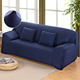 Stretch Loveseat cover 1-Piece Non-Slip Couch Slipcover 2 Seater Polyester Furniture Protector Navy Blue