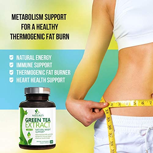 Green Tea Extract 98% Standardized Egcg for Healthy Weight Support 1000mg - Supports Healthy Heart, Metabolism & Energy with Polyphenols - Gentle Caffeine, Made in USA - 240 Capsules 3