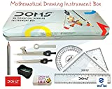 Doms Geometry Mathematical Drawing Instrument Box - Pack Of 3 Box
