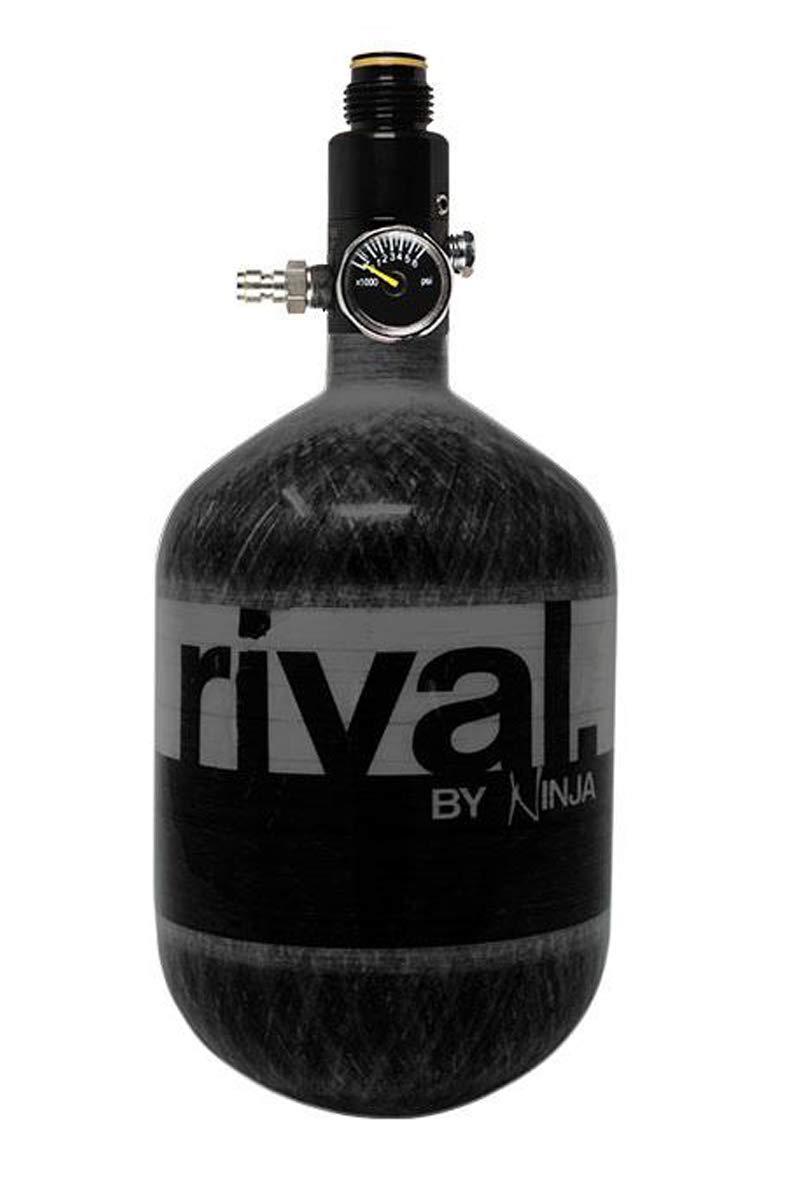 Ninja Rival Paintball Carbon Fiber 50ci 4500psi Compressed HPA Air Tank (Black) by Ninja Paintball