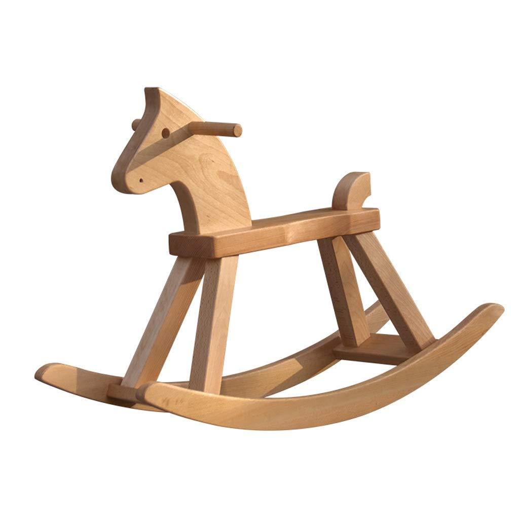 ZJING 大人用 トロージャン 無垢材装飾 誕生日ギフト 大人用 ロッキングチェア おもちゃ 木製 大人用 クリエイティブ ハンドメイド 大きなトロージャン   B07QQMXF74