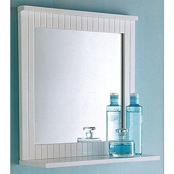Maine Badezimmer Spiegel Holz Rahmen Zur Wandmontage Mit Ablage