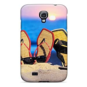 Excellent Galaxy S4 Case Tpu Cover Back Skin Protector Beach Sandals