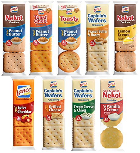 (Lance Crackers Variety Pack Assortment - Individually Wrapped Bulk Sampler by Variety Fun (36 Count))