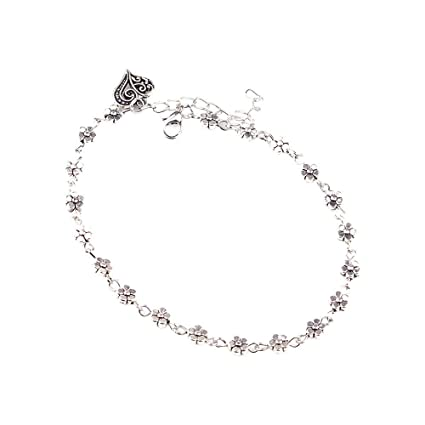 7f63aa57f21 Amazon.com: Toponly Anklet Multilayer Charm Beads Sea Silver Crystal Ball  Handmade Boho Anklet Foot Chain Jewelry for Women: Home & Kitchen