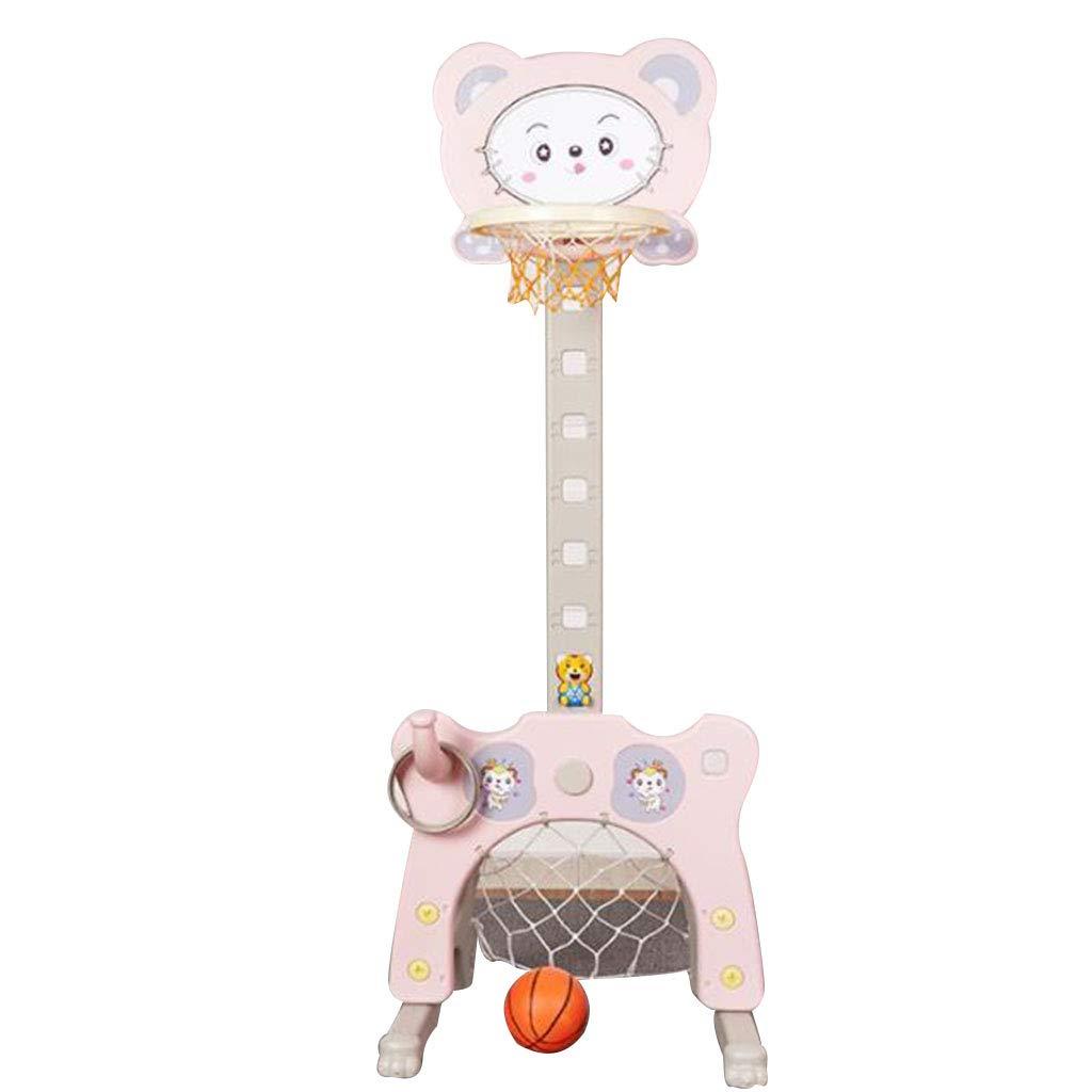 室内の持ち上げ可能な撮影フレーム子供のバスケットボールスタンドベビーホームの床サッカーバスケット小さな男の子のボールのおもちゃ ボールボールケース (Color : Pink, Size : 60 * 124 cm/24 * 49 inch) 60*124 cm/24*49 inch Pink B07GWD2S53