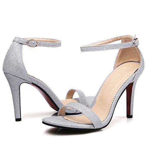 Silver Zanpa Mode Donna 2 Strap Sandali Alla Caviglia xR0aqx