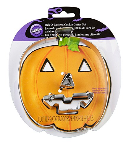 Wilton 2308-5016 Jack-O-Lantern Cutter Set (Halloween Cutouts For Pumpkin Carving)