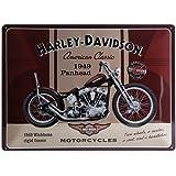 Harley-Davidson Plaque en métal Panhead, 40 x 30 cm