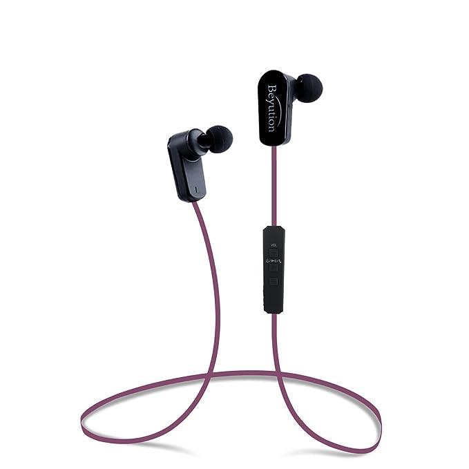 Beyution - Auriculares Deportivos con Bluetooth 4.1 (inalámbricos ...