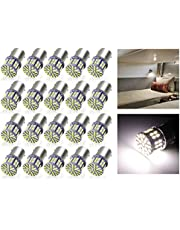 Cargo LED 20 Pcs Extremely Super Bright 1156 1141 1003 1073 BA15S 7506 50 SMD 3014 LED Replacement Light Bulbs for RV Indoor Lights 6000K Xenon White(12V DC)