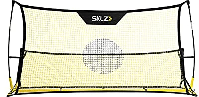 "SKLZ Quickster Soccer Trainer- Portable Multi-Touch Skill Rebounder (6'x4' and 6'x20"" nets)"