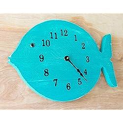 Fish Decor, Fish Gifts for men, Painted Fish Clock - 16 wide wall clock - lake house decor wood clock - beach house clock - Nautical Theme, Beach Cottage or Coastal Decor.