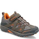 Merrell Trail Chaser Hiking Shoe (Little Kid/Big Kid), Gunsmoke/Orange, 1 M US Little Kid