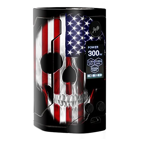 Skin Decal Vinyl Wrap for Wismec Reuleaux RX Gen 3 300W Vape stickers skins cover/ American Skull Flag in Skull from itsaskin1