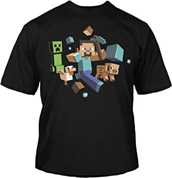 Amazon.com: Minecraft - Run Away Youth T-Shirt: Clothing
