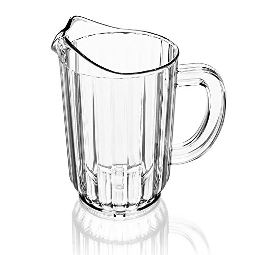 New Star 46113 Polycarbonate Plastic Restaurant Water Pitcher, 60-Ounce, Clear, Set of 12