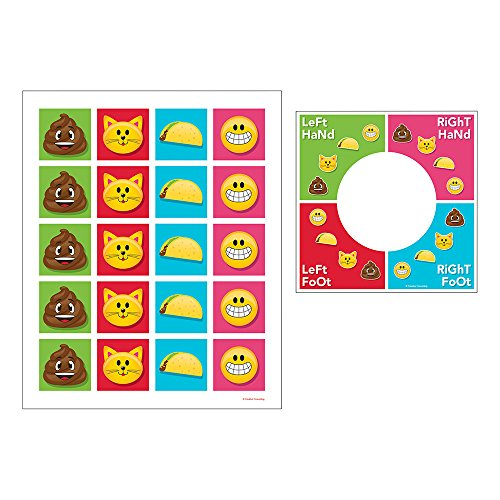 Creative Converting 329379 Spin/Twist Floor Mat Party Game, Show Your Emojions (Twister Game Mat)