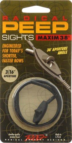 Radical Archery Designs RAD Maxim 38 Self Align Peep 3/16 ()