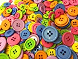 400 Pieces Assorted Buttons For Crafts Mixed Color Resin Round Buttons Craft Buttons Favorite Findings Basic Buttons Assorted Sizes for Sewing Fasteners Scrapbooking and DIY Craft (400 Pieces)