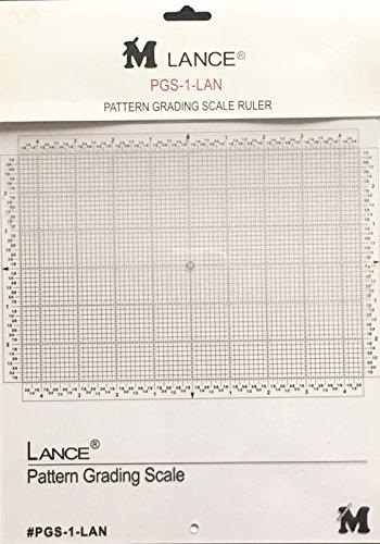 Lance PGS-1-LAN Pattern Grading Scale Ruler,10.5