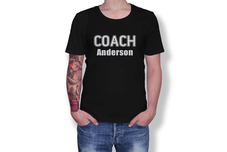 Custom Name - Coach - Personalised Novelty Gift - Adult Unisex Tshirt