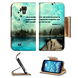 Father Reap Mathew Scripture Promises Samsung Galaxy S4 Flip Cover Case with Card Holder