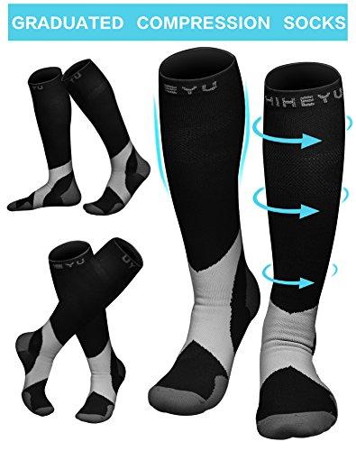 Atist Compression Socks for Women & Men, 20-30 mmHg, Best Graduated Athletic Fit for Running, Nurses, Pregnancy, Flight Travel, Medical, Maternity, Shin Splints