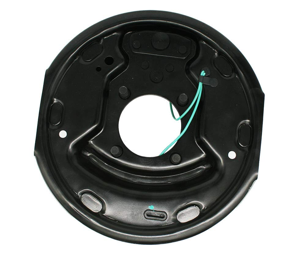 One Pair of 10 X 2-1//4 Electric Brake Assemblies with Mounting Nuts and Washers; for 3,500 Lbs Trailer Axles