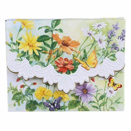 Carol's Rose Garden Spring Meadow Blank 10 Card Set Portfolio