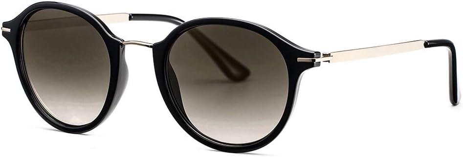 Vintage rétro cadre noir Lunettes de soleil lentille sombre