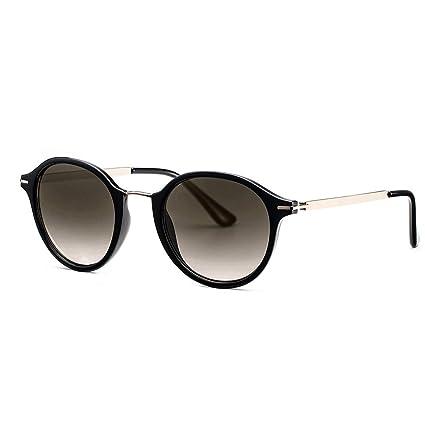 Avoalre Gafas de Sol Mujer Vintage Estilo Clásico Moreno Gafas de Sol Mujer Redondas en Moda 2019 Lentes Protección UV400 Punte Metal y Montura de ...