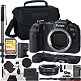 Canon EOS RP Mirrorless Camera 26.2MP Portable Full Frame Body Only Bundle with Lens Mount Adapter EF-EOS R Adapts EF and EF-S Lenses, Extension Grip, 64GB Memory Card and Accessories (4 Items)