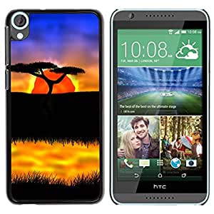 LECELL -- Funda protectora / Cubierta / Piel For HTC Desire 820 -- The African Safari Sunset --