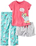 Carter's Girls' 3 Pc Poly 353g072, Print, 4T