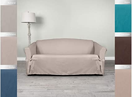 slipcover for couch with attached back pillows