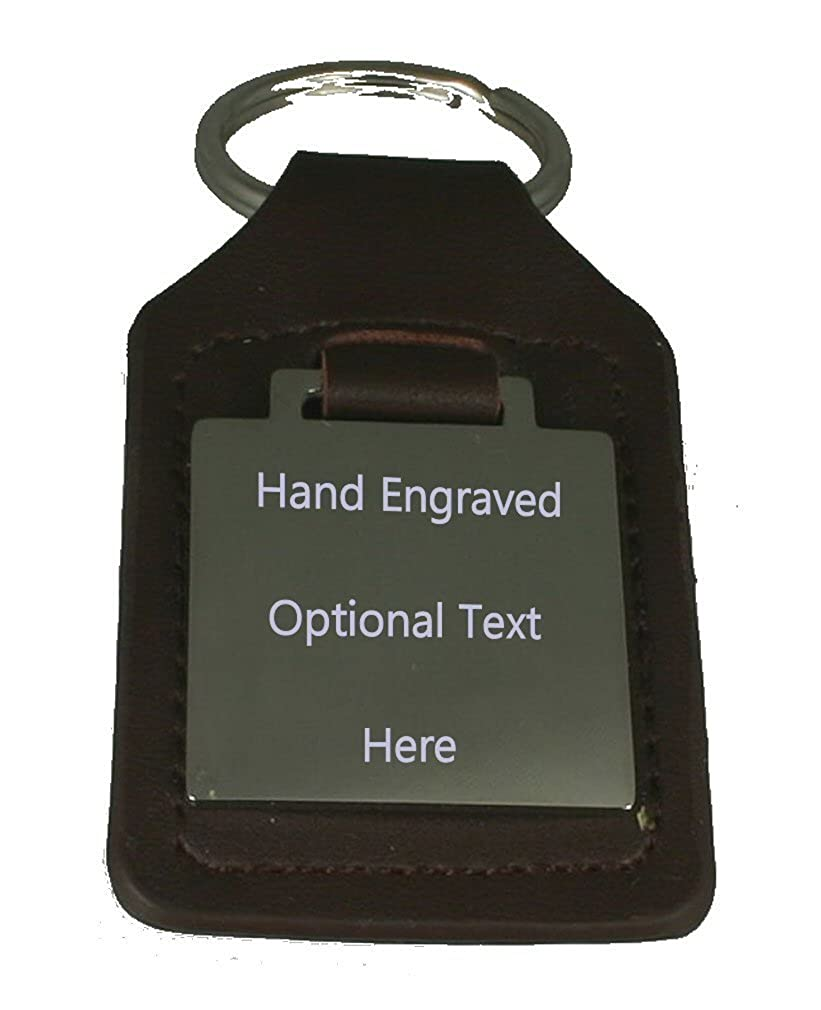 Leather Keyring Engraved Evolution Ape to Man Handball