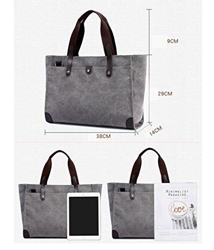 Travel Bag capacity Mom Large Backpack Shoulder Student Brown Handbag Casual Fashion Ladies FLHT Messenger Comfortable Bag Handbag Canvas gAxq7SwP