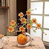 BWLZSP 1PCS Tv wine cabinet art flower living room home soft gift simple and modern LU613518 (Color : Orange)