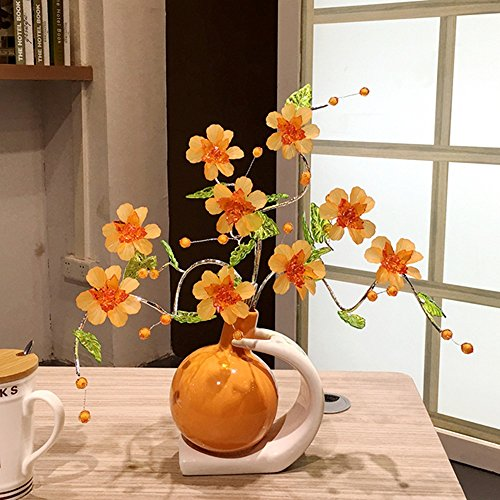 BWLZSP 1PCS Tv wine cabinet art flower living room home soft gift simple and modern LU613518 (Color : Orange) by BWLZSP