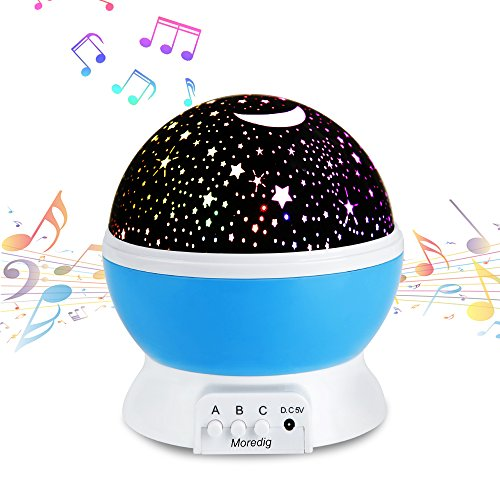 Music Night Light Projector lamp Baby Star Projector 360 ...