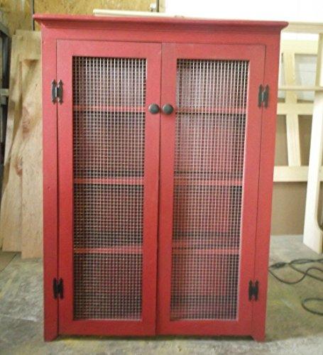 Distressed Bathroom Linen Cabinet - Rustic Storage Cupboard Display