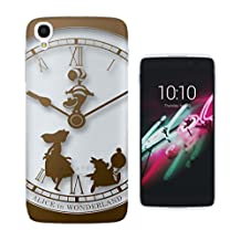 459 - Vintage Clock Alice in Wonderland Design ALCATEL ONE TOUCH IDOL 3 (5.5'') Fashion Trend CASE Gel Rubber Silicone All Edges Protection Case Cover