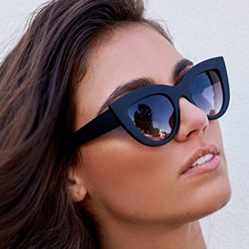 de Moda wei Color Gafas café de Conducción de caja Sol Negro Ojo negra Sol del Gato de Un Gafas Tamaño Gafas 1xCnx4B